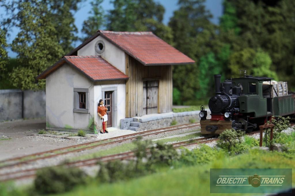 Mysterieuse femme a l'arrivée du tramway de Corrèze.