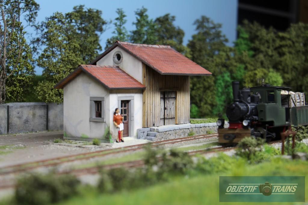 Halte du tramway vapeur de Corrèze.
