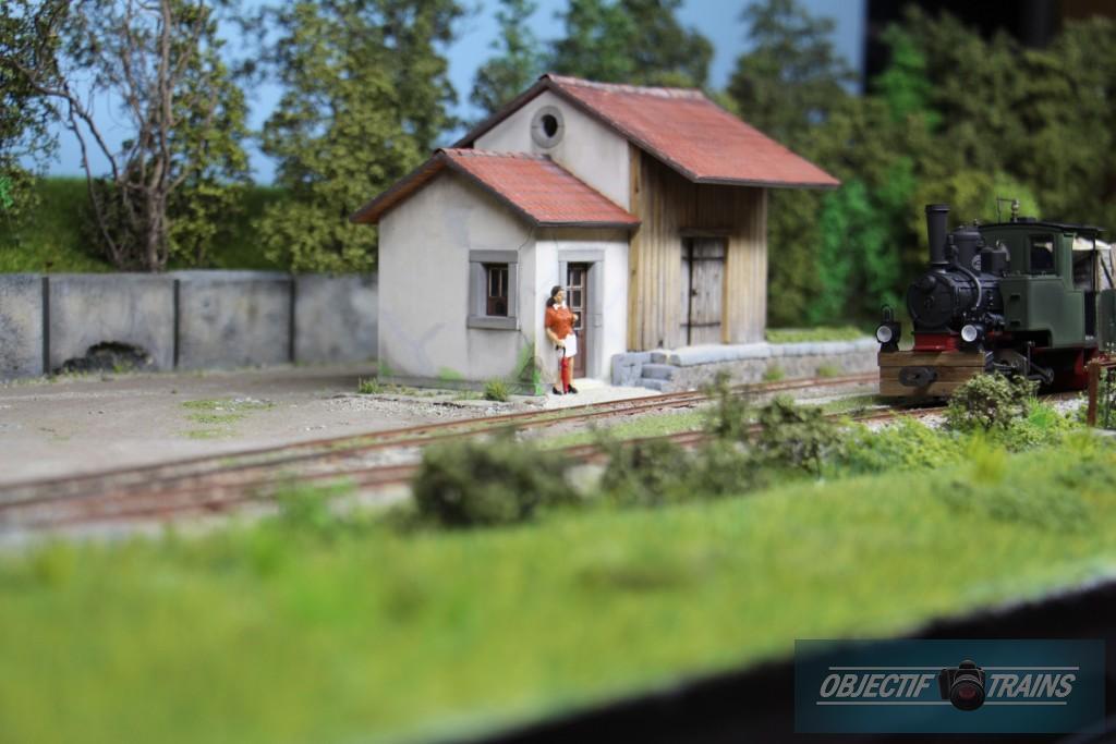 Halte de Corrèze et loco vapeur.