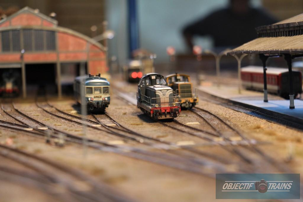 BB 66000, X2800 et Y7000 en gare d'Aurillac.