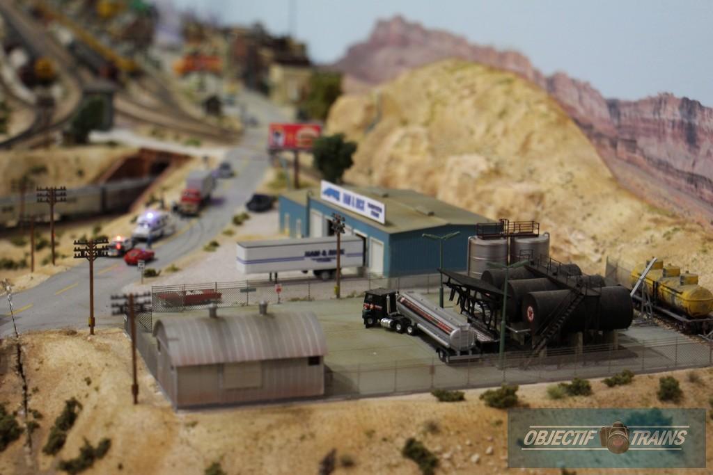 Station et stock de carburant.