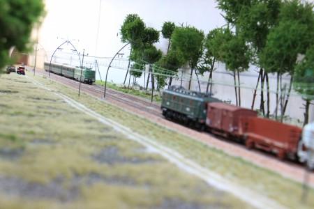 Ychoux croisement de convois.