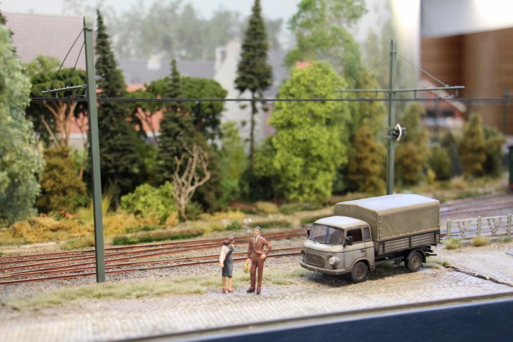 Camion en bord de voie