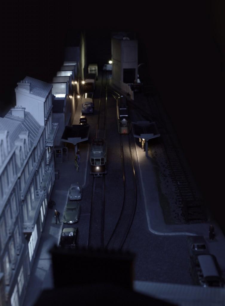 La rue la nuit.