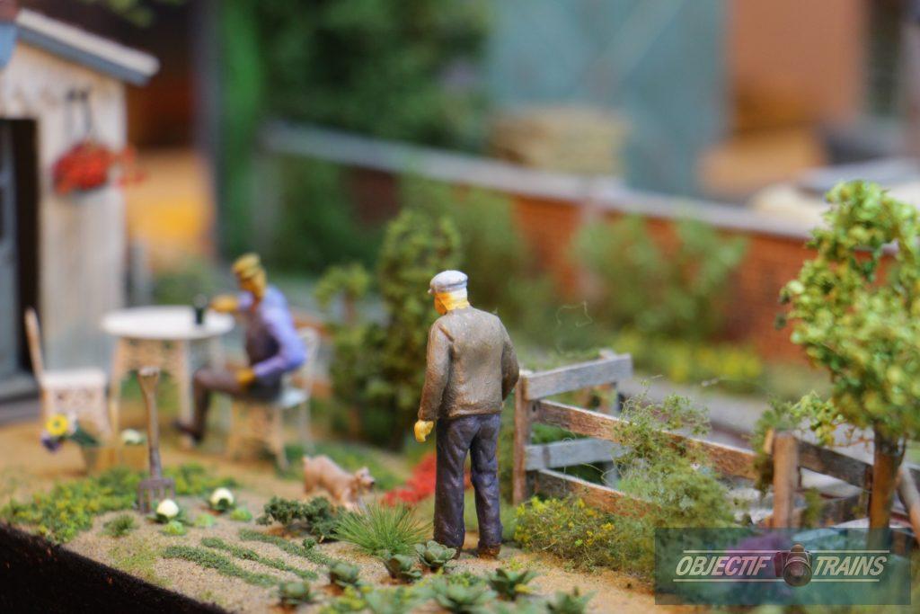 Les jardins de légumes.