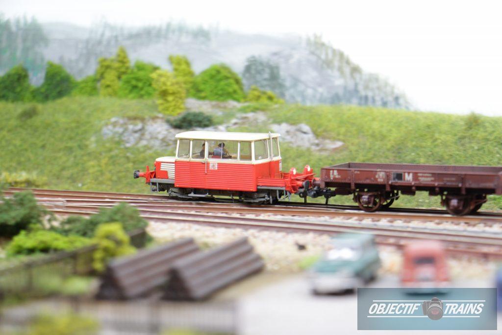 Draisine et son wagon plateau...
