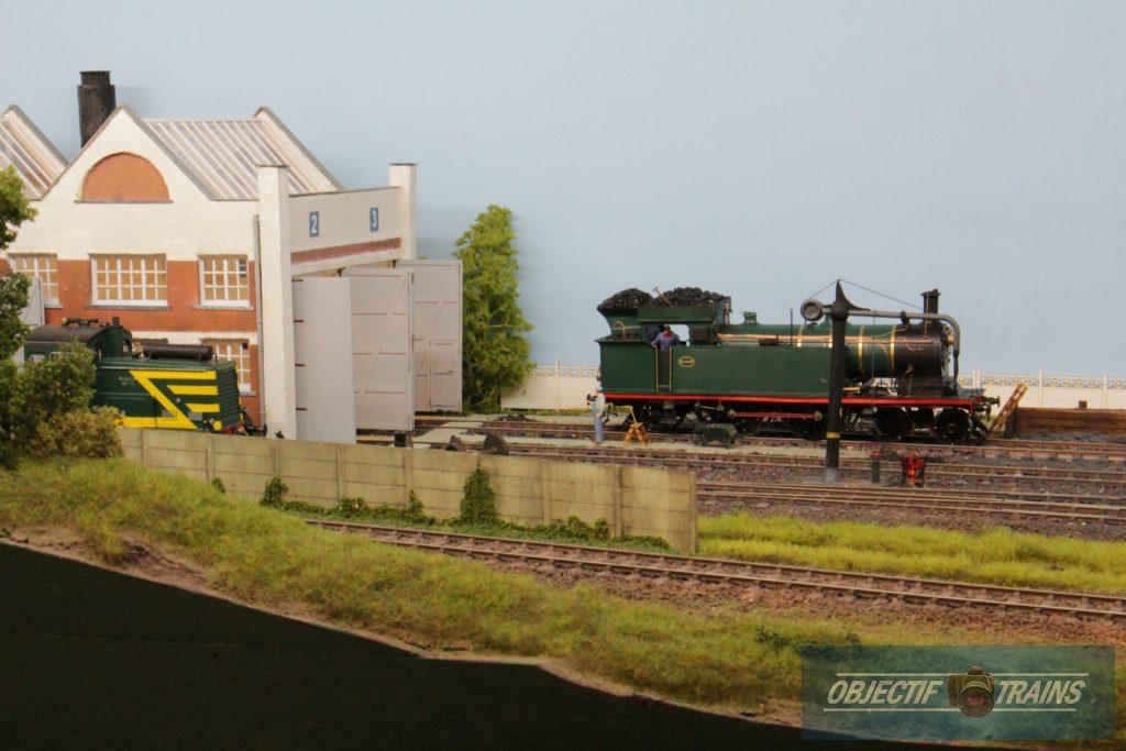 Locomotive vapeur.