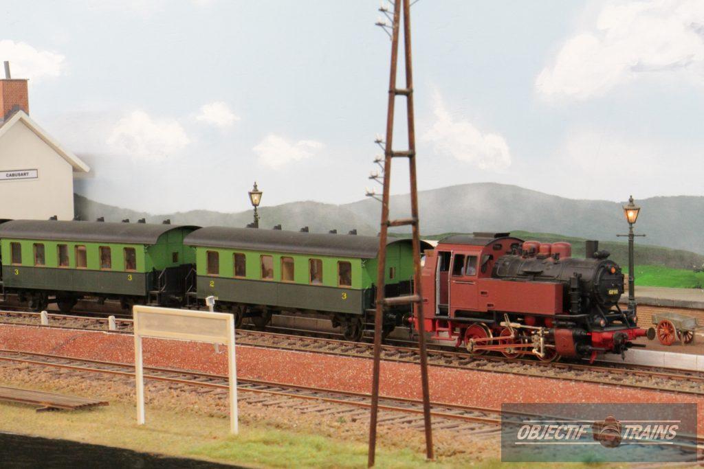 Convoi vapeur - réseau Thanasse à Cabusart