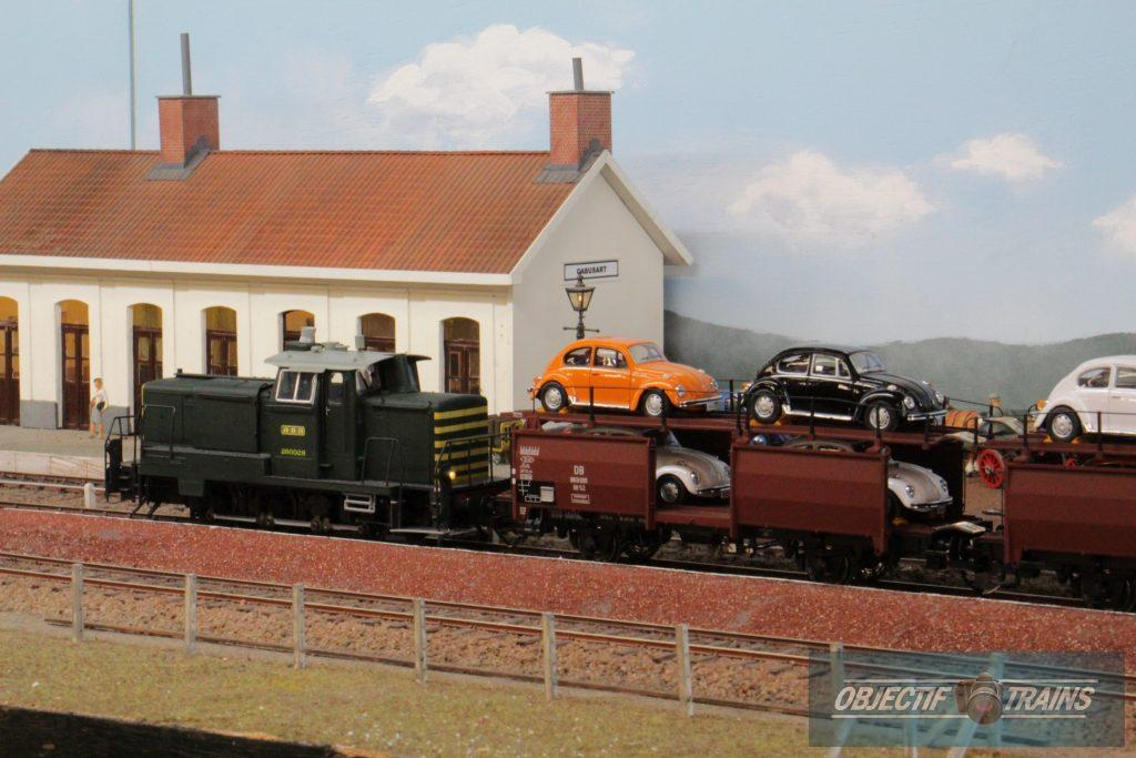 Convoi train transport de voitures - Thanasse à Cabusart