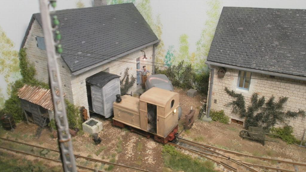 Le locotracteur pour le wagon